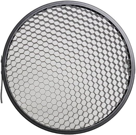 ANDOER 7in Estándar Reflector Difusor Lámpara Plato con Rejilla panal de 60