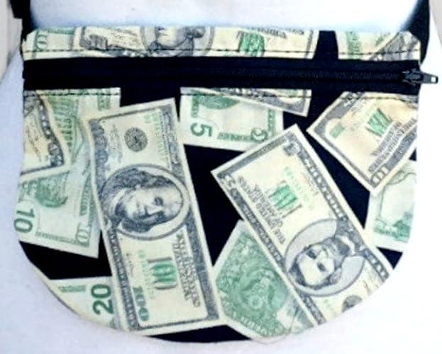 9c16bcd5229f Amazon.com: Money Print Travel Fanny Pack: Handmade