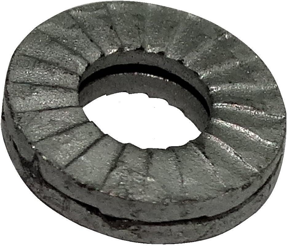 5x Arandelas autoblocante estriadas dientes freno M3 Ф7mm H1.8mm acero templado galvanizado C19107 AERZETIX
