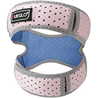 """HUEGLO Women Knee Brace for Running Patellar Tendon Support Strap Knee Strap for Knee Pain Relief,Arthritis, Jumper, Tennis,Injury Recovery,Protection,Pink(1 Piece),11""""- 16"""""""
