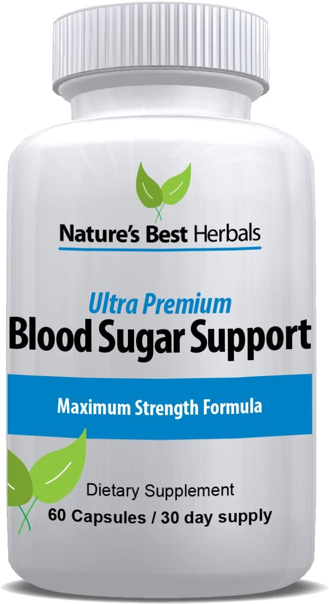 Ultra Premium Blood Sugar Support Supplement Natural Glucose Control 20 Powerful Ingredients for Healthy Insulin Uptake Includes Cinnamon, Chromium, ALA and More 60 capsules 30-day Supply