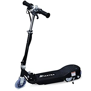 Maxtra E100 Electric Scooter 160lbs Max Weight Capacity Motorized Scooters Bike for Kid Black
