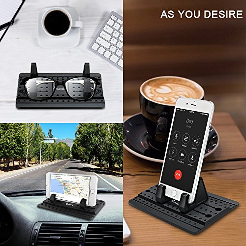 Car Phone Holder, Vansky Car Phone Mount Silicone Dashboard Car Pad Mat for iPhone X/8 Plus/7 Plus/6/6S Plus, Samsung Galaxy S8 Plus/Note 8/S7 3.5-7 inch Smartphone or GPS Devices by Vansky (Image #5)