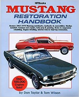 muscle cars 67 mustang repair manual