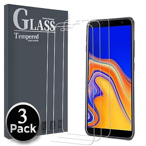 Ferilinso Vetro Temperato per Samsung Galaxy J6 Plus /J6+ /J4 Plus /J4+,[3  Pack] Pellicola Protettiva Protezione Schermo in Vetro Temperato Screen ...