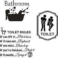 3pcs Vinilos Aseo Lavabo Baño Bathroom Pegatinas Sticker