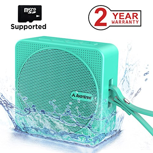 - Avantree Bluetooth Shower Speaker 4.2, Portable Wireless Speaker for Kids, Water Activities, Micro SD Card, IPX6 Waterproof for Outdoor Sport Travel Hiking and Beach, 10 Hours Music Time – SP950