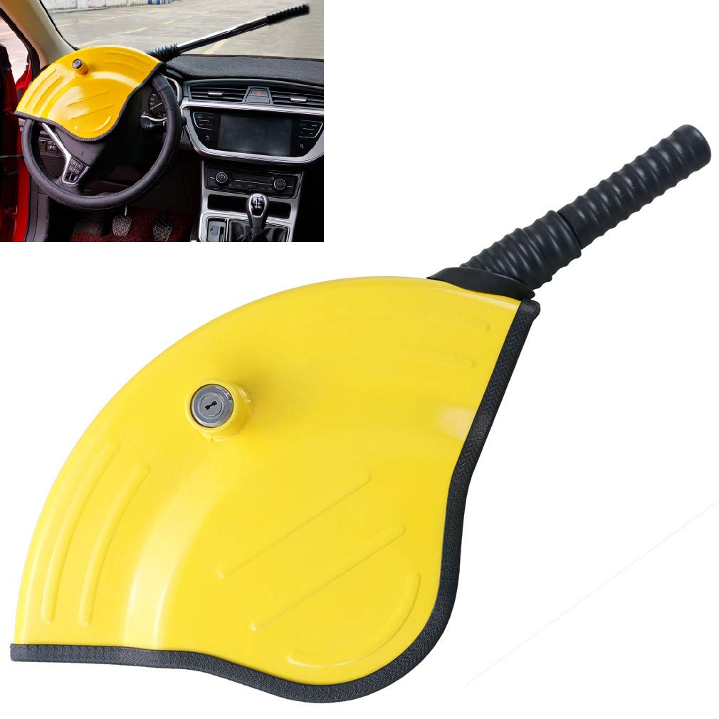 Oklead Universal Car Steering Wheel Lock - Full Cover Airbag Anti Theft Locking Device For Car Suv Pickup With 2 Keys by Oklead