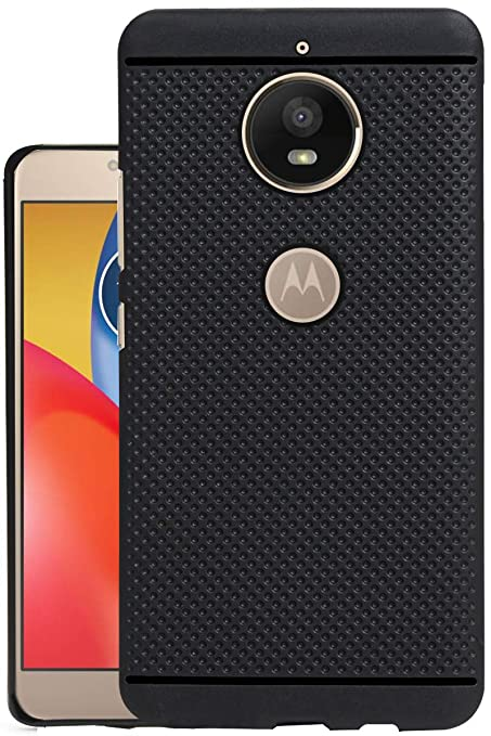 finest selection a1075 03acb Jkobi® 360* Protection Dotted Designed Soft Rubberised Back Case Cover for  Motorola Moto E4 Plus - Black