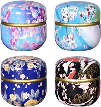 Small Empty Candle Tea Candy Can Container Metal Tin Storage Box Exquisite