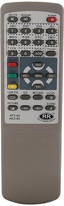 sharp crt tv. sharp plus akai crt tv 2in1 remote (sp) (grey) crt tv