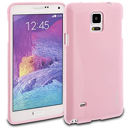 buy popular 6810b 251ea Galaxy Note 4 Case, ModeBlu [Gel Case Series] [Pink] Protective Case Bumper  Slim Fit Shock Absorbent Cover [Drop Protection] for Samsung Galaxy Note 4