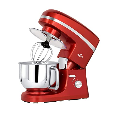 Litchi Stand Mixer 5 5 Qt Kitchen Mixer 650w 6 Speed Tilt Head Stand Mixers With Splash Guard Stainless Steel Bowl Beaters Whisk Dough Hook