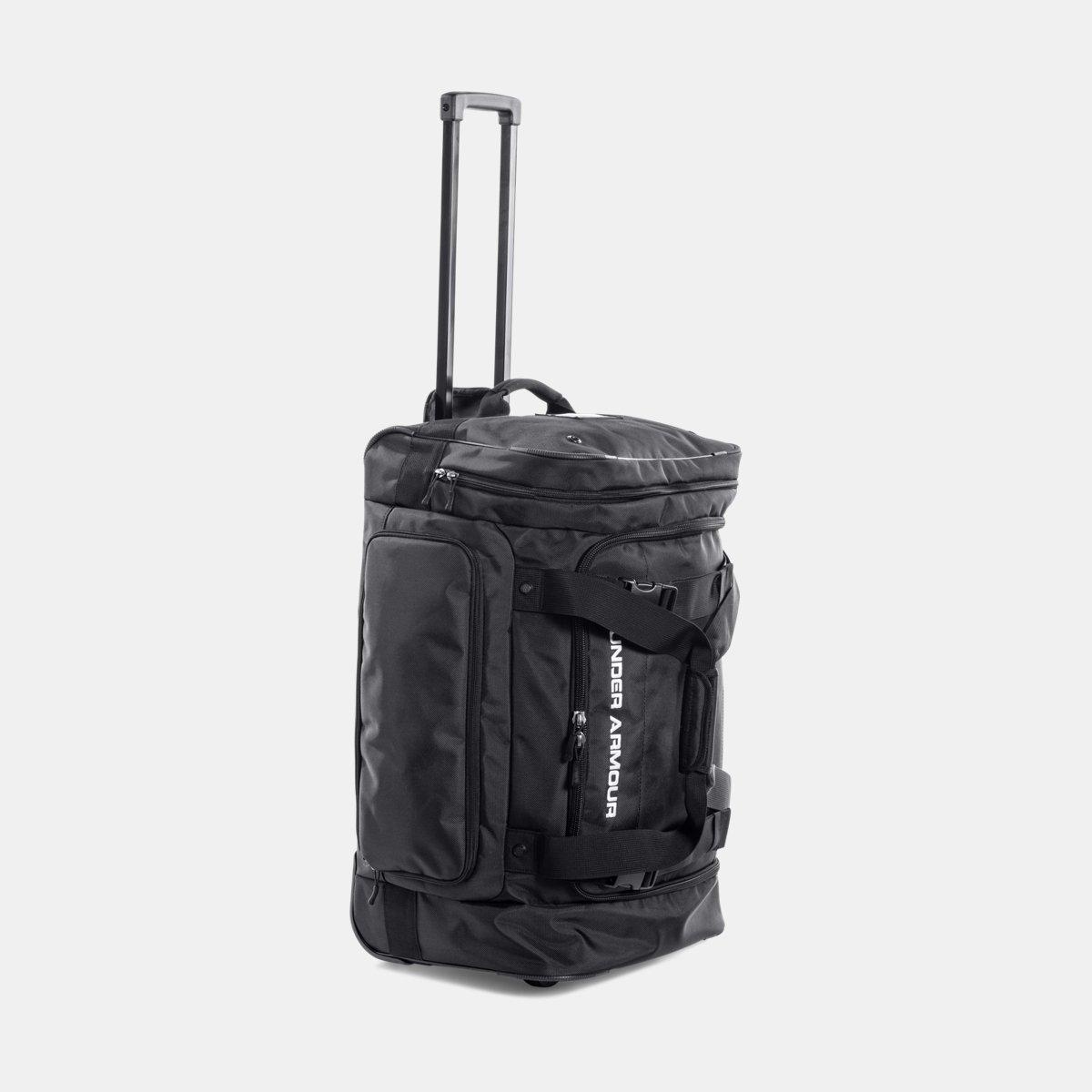 [UNDER ARMOUR] アンダーアーマー UA Road Game XL Wheeled Duffle Bag [並行輸入品]  Black /Black B0753B1XCV