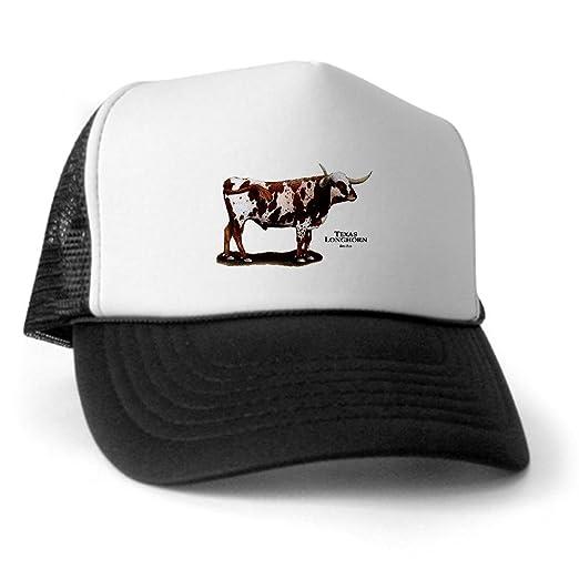 Amazon.com  CafePress - Texas Longhorn Trucker Hat - Trucker Hat ... 4459663567b0