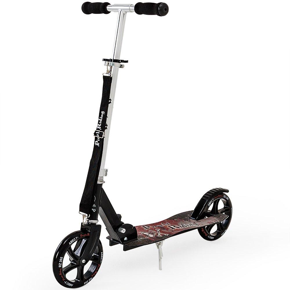 Deuba Patinete plegable | Scooter | Freestyle | Monopatín | Scooter divertido | Motivo pirata | Rodamientos de Bola | ABEC7 | Cityroller |