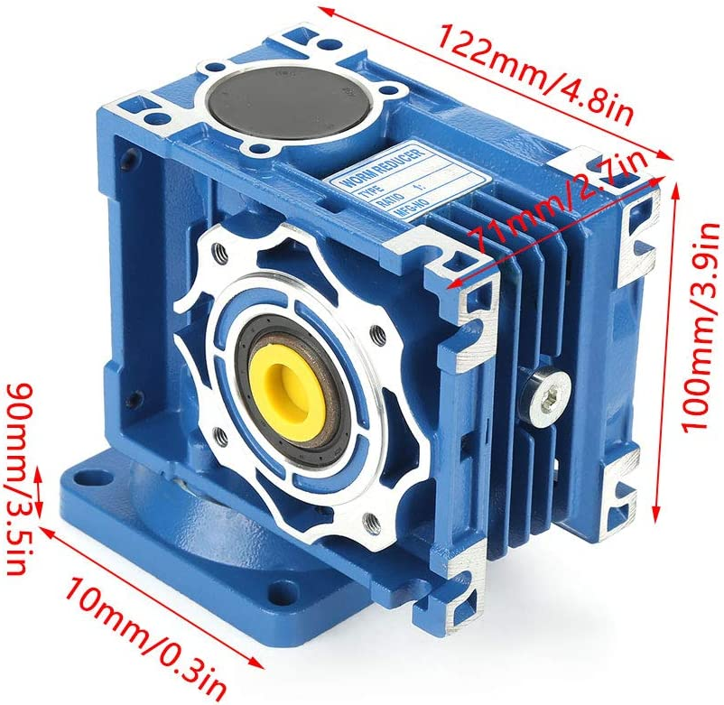 Motor/éducteur AC 220V 120W Moteur /à vitesse de rotation variable /à vis sans fin /à blocage automatique Moteur /à engrenage CW//CCW avec r/égulateur Kit de motorisation /à vis sans fin /à 8 p/ôles 30K
