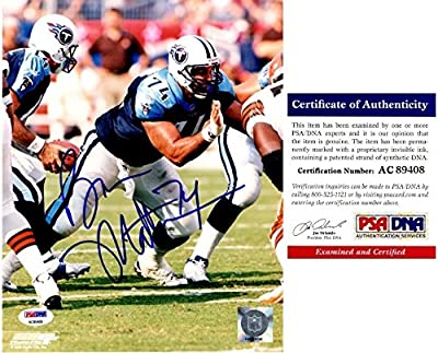 Bruce Matthews Autographed Tennessee Titans 8x10 Photo - PSA/DNA Authentic