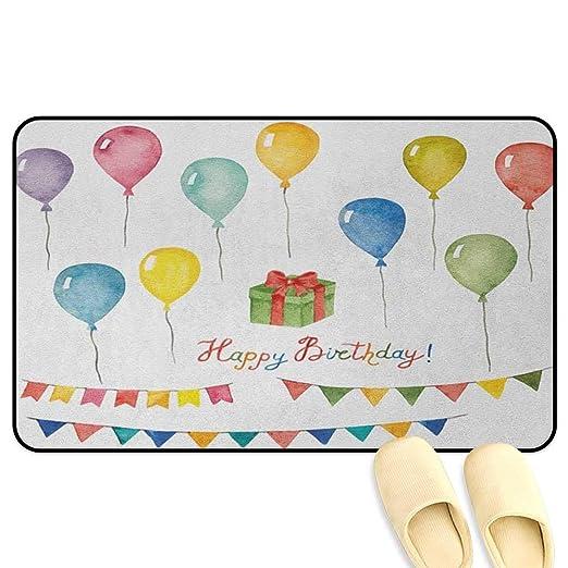 homecoco Felpudo de cumpleaños con diseño de Acuarela para ...