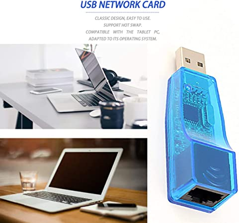 Detectorcatty Ethernet External USB to LAN RJ45 Network Card Adapter 10//100Mbps for Tablet Universal Serial Bus Interface RJ45 Connector