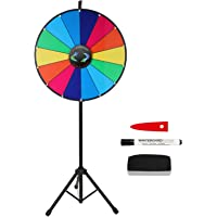 """Voilamart 24"""" 14 Slots Prize Wheel Floor Stand Dry Erase Wheel of Fortune Spinning Wheel Spinning Game Party Pub Tradeshow"""