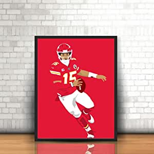 Splash Paint Travis Kelce Poster Kansas City Chiefs Wall Art Decor for Gym Portrait Canvas Gift Man Cave Kids Living Room Office Decorations
