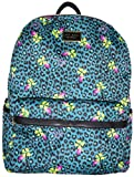 Betsey Johnson Signature Banner Backpack (Teal Leopard)