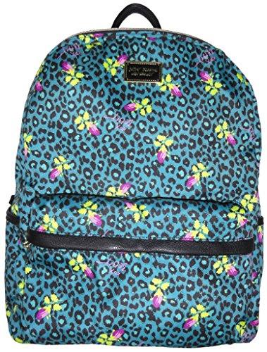 Betsey Johnson Signature Banner Backpack (Teal Leopard)