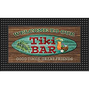 Door mat appropriate for outdoor tiki bar led for Door mats amazon