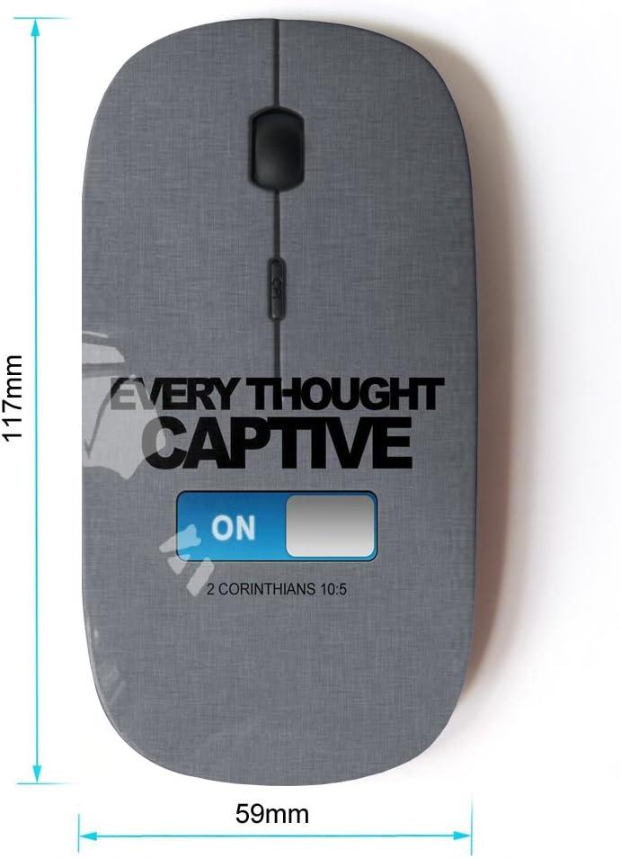 Bible Verse Corinthians 10:5 Captive KOOLmouse Optical 2.4G Wireless Computer Mouse