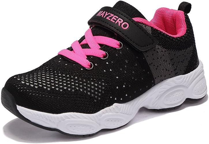 Chaussure de Course Sport Walking Shoes Running Compétition Entraînement Chaussure à la Mode, Sneakers Basket Chaussure Scolaire l'école pour Garçon