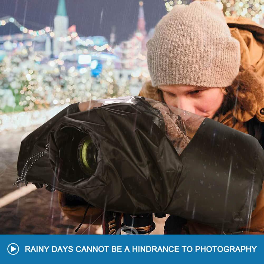 CADeN Rain-Waterproof Camera Protector Cover for Canon Nikon Sony DSLR and Mirrorless Cameras Professional Photo Rain Cover