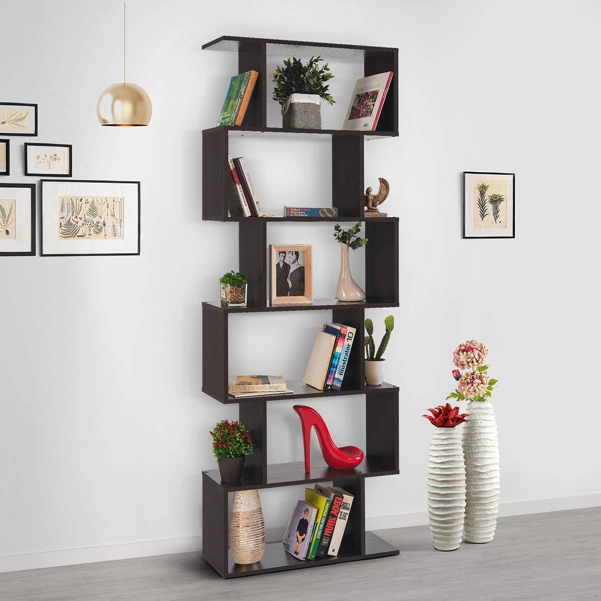 Quattro Finiture Dimensioni: 192 x 70 x 23,5 cm Scaffale libreria Decorativa Moderna e di Design COMIFORT