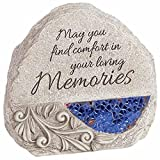 Carson Home Accents 92445 Memorial Stone-Comfort And Light With Solar Design, 5.25 x 5.5