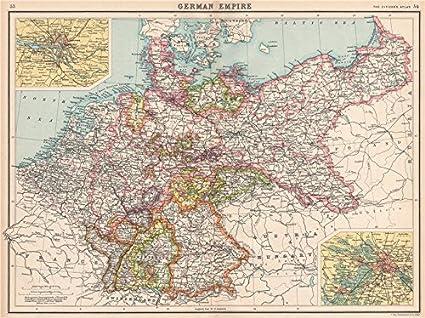 Map Of Germany Hamburg.Amazon Com German Empire States Germany Prussia Hamburg Berlin