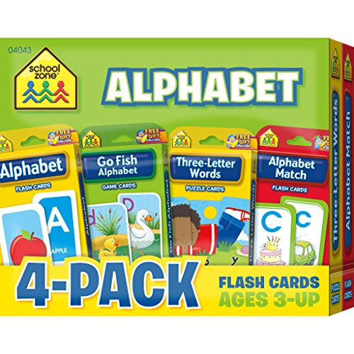 Alphabet Flash Card 4-Pack