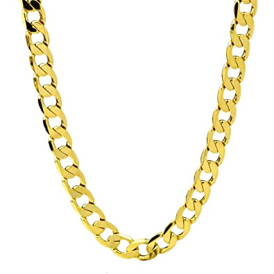 c22a78232 18K Gold Filled Mens Necklace Cuban Curb Link Chain 24