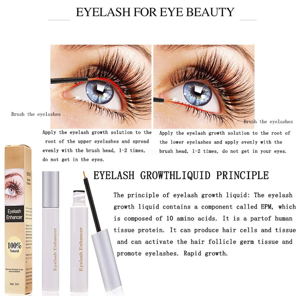 d4c26f24afc Amazon.com: Eyelash Growth Serum for longer, thicker eyelashes and fuller  eyebrows! Eyelash enhancer to repair damage from eyelash curlers or over  plucking ...