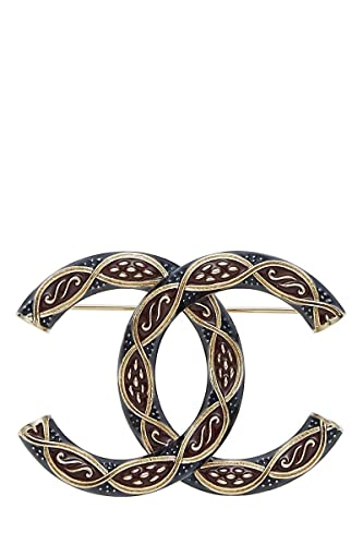 144819216 Amazon.com: CHANEL Textured Enamel CC Brooch (Pre-Owned): Jewelry