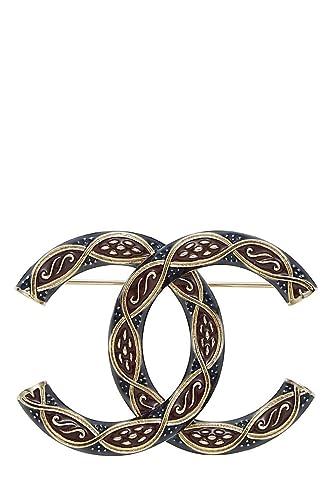 style à la mode 100% d'origine acheter populaire Amazon.com: CHANEL Textured Enamel CC Brooch (Pre-Owned ...
