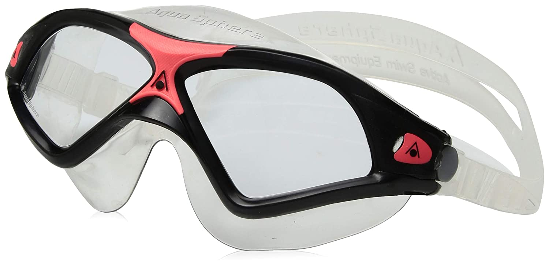 c4809650575 Amazon.com : Aqua Sphere Seal XP 2 Seal XP Swim Mask, Black Coral - Clear  Lens : Sports & Outdoors