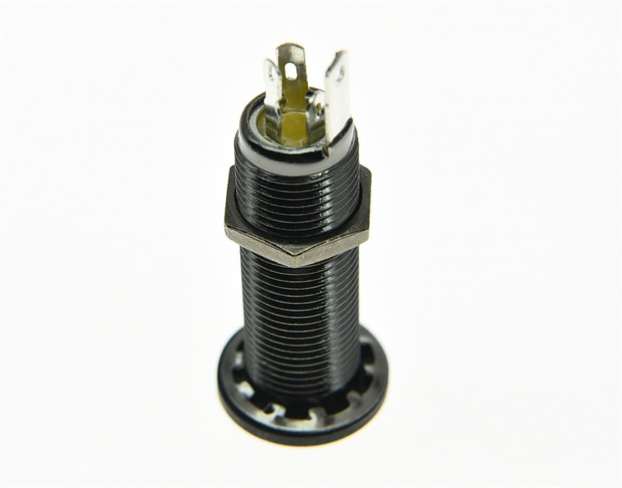 Kaish stereo rame basso Barrel cilindro jack di ingresso//uscita connettori 4/perni cromo Old Skool Pro