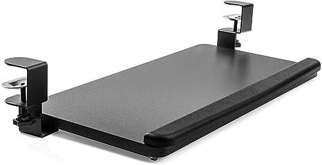 KÜHNER - Soporte para teclado deslizante, soporte ergonómico para teclado de ratón, soporte para teclado de ordenador bajo escritorio, escritorio y ...