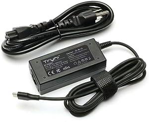 New 45W USB-C Type-C AC Adapter Charger Power Cord Supply for Lenovo ADLX45YCC3A ADLX45YDC2A GX20M33579 SA10E75811 SA10E75820, Zenpad Z10 ZT500KL, ZenPad 3S 10, ASUS ZenPad S 8 Z580CA