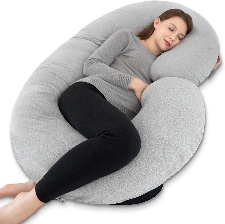 Full Body Pregnancy Pillow C Shaped Maternity Support Cushion for Nursing Women