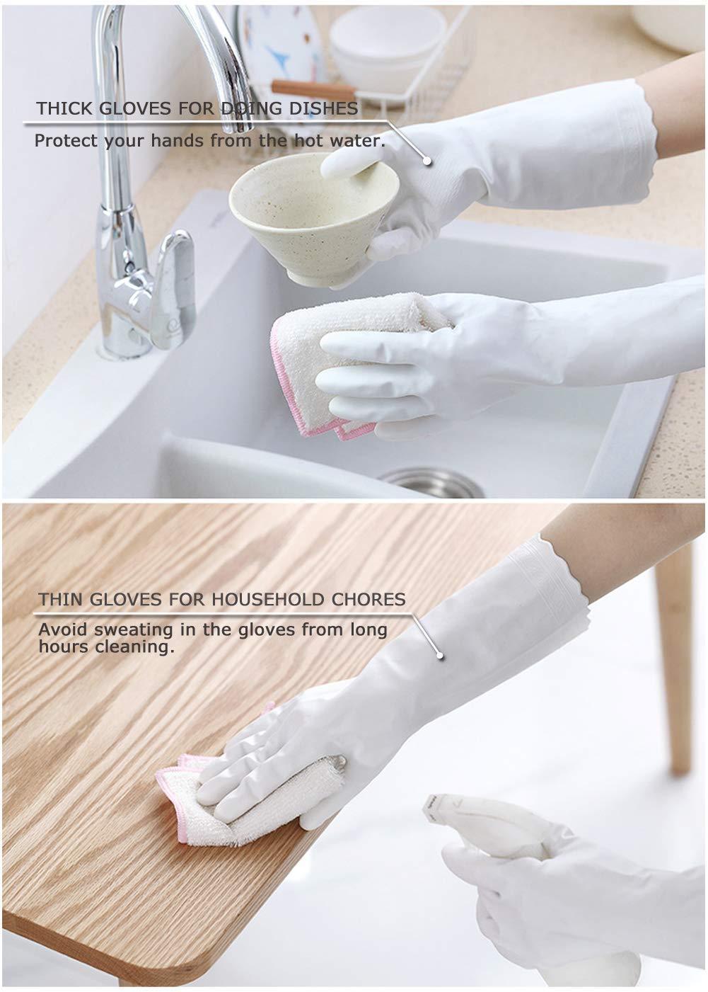 3 Thick S Plat 3/paires de gants pour usage domestique mince