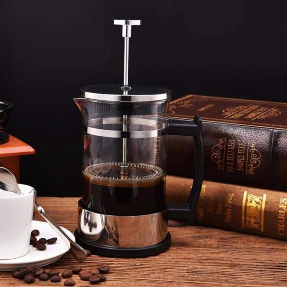 Queenhairs 350 ml de acero inoxidable de vidrio hueco filtro franc/és cafetera cafetera tetera prensa /émbolo