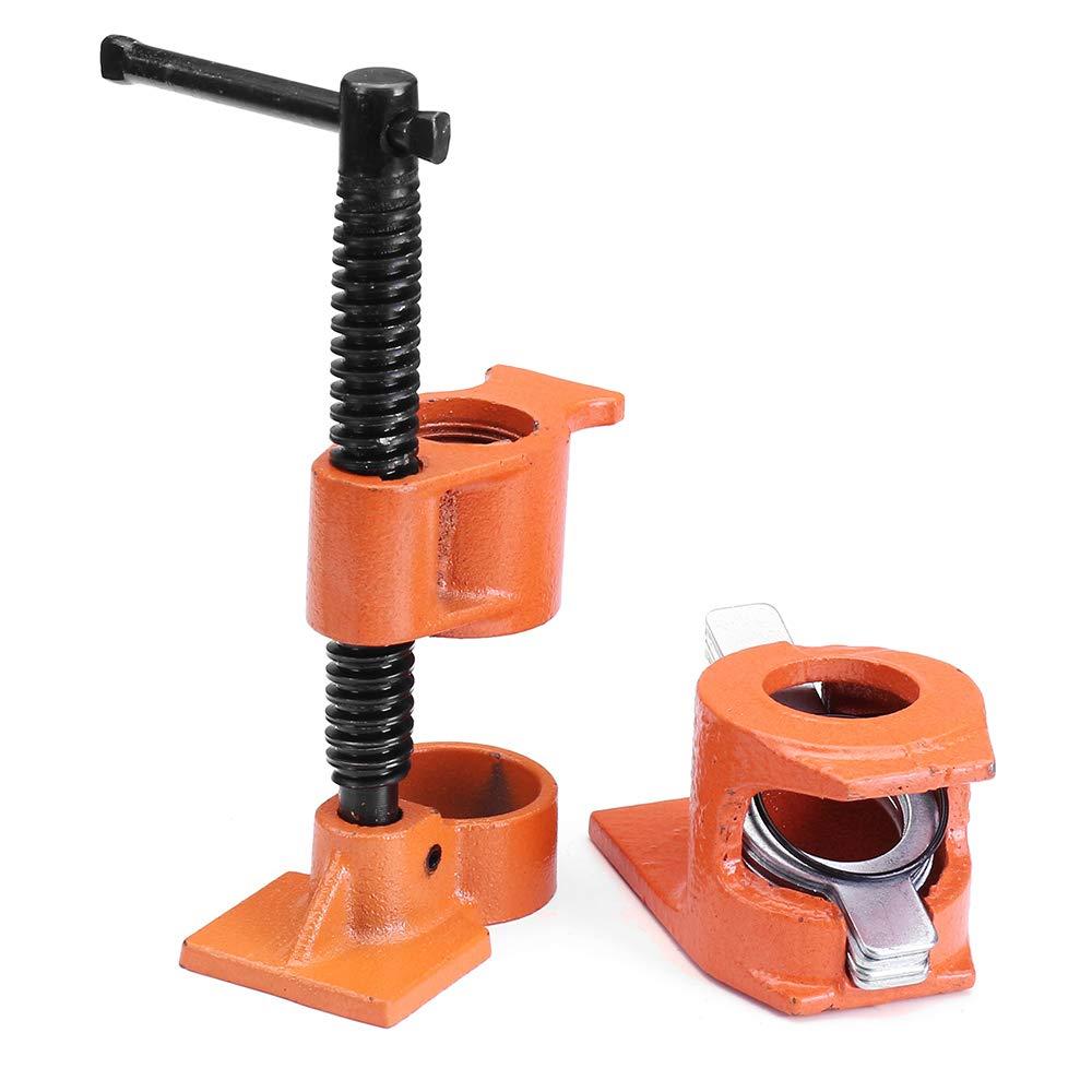 Wuchance 1 2 Zoll Gusseisen Holz Kleben Rohr Clip Set Fixture Carpenter Schnelle Holzbearbeitung Klemmwerkzeug