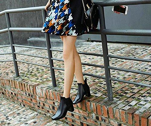 Stivaletto donna tacco a spillo in pelle scamosciata in vera pelle elastico alla caviglia , 37