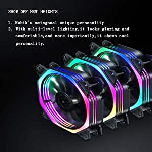 Onewell RGB Light Case Cooler Luces LED multimodo Silent Shock ...